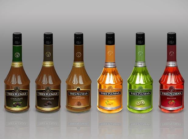 Dellepiane Tres Plumas Liquors Packaging Bottles