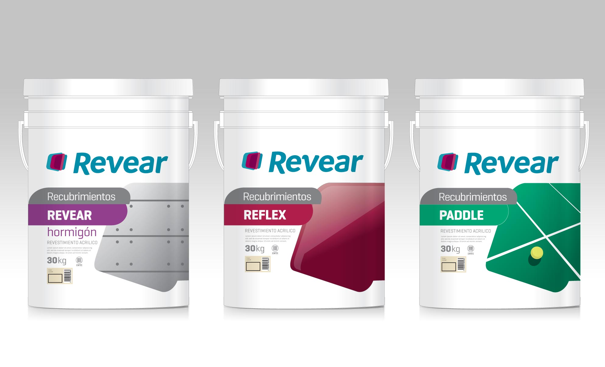 ParexGroup Revear Paint Pinturas Packaging Baldes