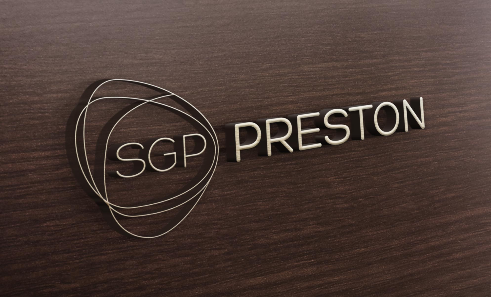 SCP Preston Logotype Logo